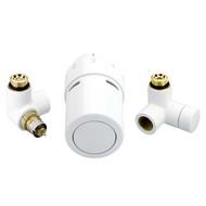 "Терморегулирующий комплект RTX set Danfoss для полотенцесушителей, артикул 013G4137, 1/2"", холодно-белый (RAL 9016), для подключения терморегулятора слева, запорного клапана справа"
