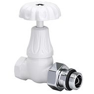 "Прямой клапан SR Rubinetterie для радиатора серия Old Style 1/2"", цвет: белый, арт. 0338-1500VC0A"