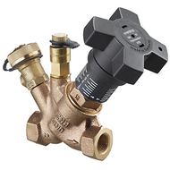 Регулирующий вентиль Oventrop Hydrocontrol VTR PN25/PN16 Ду 15, 1/2 ВР,бронза, 1 ниппель КИП и 1 шар. кран, Арт. 1060304