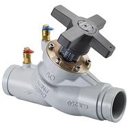 Регулирующий вентиль Oventrop Hydrocontrol VGC PN16 Ду100 с желобом под соединительную муфту (чугун), Арт. 1063053