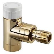 """Вентиль (термостатический клапан) Oventrop серия E (эксклюзивная) угловой Ду15 1/2"""", артикул 1163072, цвет позолоченный"""