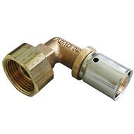 """Прессовый угольник-переход Oventrop 20х2,5 мм х G 3/4"""" с накидной гайкой, Арт. 1512755"""