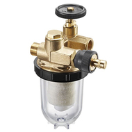 Фильтры жидкого топлива Oventrop Oilpur (войлочный) Ду 10, G 3/8 (ВР х НР), для двухтрубных систем (с перемычкой насос-фильтр ), арт. 2122503