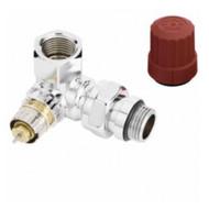 Клапан терморегулятора RA-NCX угловой, трехосевой, правое исполнение, хром, ВР, Danfoss 013G4239