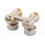 Клапан Danfoss RLV-KS угловой 3/4x3/4, артикул 003L0223, для нижнего подключения радиаторов
