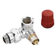 Клапан терморегулятора RA-NCX угловой, трехосевой, левое исполнение, хром, ВР, Danfoss 013G4240