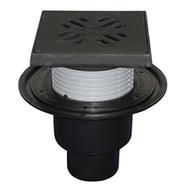 Трап HL для подвалов и технических для подвалов и технических помещений с решеткой и подрамником, с вертикальным выпуском HL310NG
