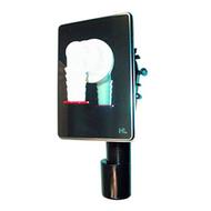 Встроенный сифон HL для стиральной или посудомоечной машины с обратным клапаном, с прочисткой, с декоративной пластиной из нержавеющей стали 110х160 мм HL400
