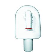 Встроенный сифон HL для стиральной или посудомоечной машины для открытой проводки с белой декоративной крышкой HL410