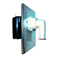 Встроенный сифон HL для стиральной или посудомоечной машины с обратным клапаном, прочисткой, декоративной пластиной из нержавеющей стали HL440