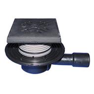 Трап HL для подвалов и технических помещений с решеткой в подрамнике и с горизонтальным выпуском HL510NG