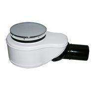 Сифон для душевого поддона со сливным отверстием диаметром 90мм, с сеткой для мусора и вынимаемым сифонным вкладышем, с крышкой из нержавеющей стали HL520