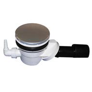Сифон HL для душевого поддона со сливным отверстием диаметром 90мм, со штуцером для присоединения дренажной трубки от 8 до 13мм, с вынимаемым сифонным вкладышем HL522V