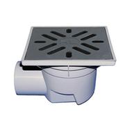 Трап HL для гаража, двора с решеткой в подрамнике с незамерзающим запахозапирающим устройством, грязеуловителем HL605