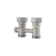Узел HUMMEL для подключения радиаторов G1/2, с накидной гайкой G3/4, проходной с 2 конусными вставками, 2248343601