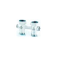 Узел HUMMEL подключения радиаторов с функцией слива G 3/4 прямой, 2218343601