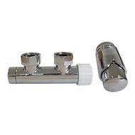 Комплект SCHLOSSER DUO-PLEX 3/4 х M22х1,5 хром (угловой, правый), арт. 602100005