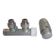 Комплект SCHLOSSER DUO-PLEX 3/4 х M22х1,5 сатин (угловой, правый), арт. 602100009