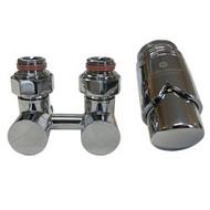 Комплект термостатический эксклюзивный SCHLOSSER 3/4 х M22х1,5 хром (фигура угловая), арт. 601000024