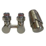Комплект термостатический эксклюзивный SCHLOSSER 3/4 х M22х1,5 сталь (фигура угловая), арт. 601000032