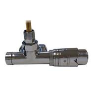 Комплект термостатический SCHLOSSER Duo-plex с погружающей трубкой 3/4 х М22х1,5 хром (угловой, правый), арт. 602100063