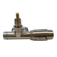 Комплект термостатический SCHLOSSER Duo-plex с погружающей трубкой 3/4 х М22х1,5 сталь (угловой, левый), арт. 602100068