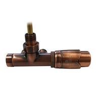 Комплект термостатический SCHLOSSER Duo-plex с погружающей трубкой 3/4 х М22х1,5 античная медь (угловой, левый), арт. 602100070