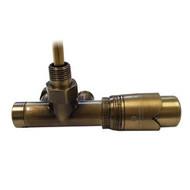 Комплект термостатический SCHLOSSER Duo-plex с погружающей трубкой 3/4 х М22х1,5 античная латунь (прямой), арт. 602100078