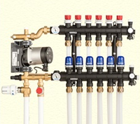Коллекторы Uponor для водяного теплого пола