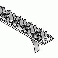 Uponor фиксирующий трак с клеевой полоской 14-20мм, ц/ц 50мм, 1м, артикул 1000018