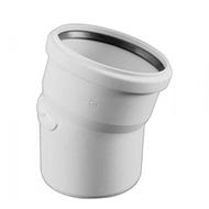 Отвод REHAU RAUPIANO PLUS диам. 50 на 15°,c резиновым сальником для канализационных труб, арт. 11210941001