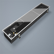 Конвектор внутрипольный VARMANN Qtherm 230.75.1250, с вентилятором, решетка анодированная (серебристая)