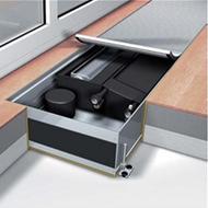 Конвектор встраиваемый в пол с вентилятором Мohlenhoff QSK EC HK 4L 320-140-2150