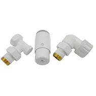 Комплект осевой SCHLOSSER правый,белый,DN15 GZ1/2 x GW1/2 с головкой мини M30x1,5, 602200066
