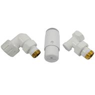 Комплект осевой SCHLOSSER левый,Белый,DN15 GZ1/2 x GW1/2 с головкой Мини M30x1,5, 602200067