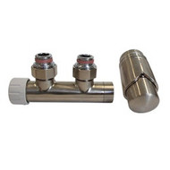Комплект SCHLOSSER DUO-PLEX 3/4 х M22х1,5 сталь (угловой, левый), арт. 602100015