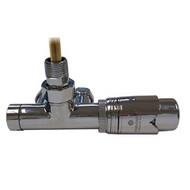 Комплект термостатический SCHLOSSER Duo-plex с погружающей трубкой 3/4 х М22х1,5 хром (угловой, левый), арт. 602100064