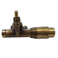 Комплект термостатический SCHLOSSER Duo-plex с погружающей трубкой 3/4 х М22х1,5 античная латунь (угловой, правый), арт. 602100071