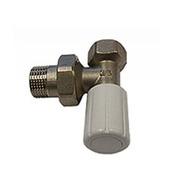 Ручной вентиль SCHLOSSER с муфтой, угловой, DN10 3/8 GZ * 3/8 GW, арт. 601400015
