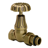 "Прямой клапан SR Rubinetterie для радиатора серия Old Style 1/2"", цвет: бронза, арт. 0338-1500Z000"