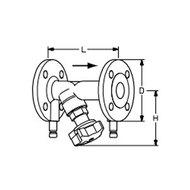 Tour & Andersson Балансировочный клапан STAF-SG, DN20, фланец, PN25, ковкий чугун, 52182020
