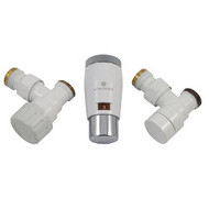 Комплект термостатический SCHLOSSER Elegant Mini GZ 1/2 х М22х1,5 белый-хром (угловой), арт. 603400042