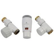 Комплект термостатический SCHLOSSER Elegant Mini GZ 1/2 х М22х1,5 белый (проходной), арт. 603400043