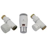 Комплект термостатический SCHLOSSER Elegant Mini GZ 1/2 х М22х1,5 белый-хром (проходной), арт. 603400044