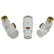 Комплект термостатический SCHLOSSER Elegant Mini GZ 1/2 х М22х1,5 белый (осевой), арт. 603400045