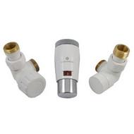 Комплект термостатический SCHLOSSER Elegant Mini GZ 1/2 х М22х1,5 белый-хром (осевой), арт. 603400046