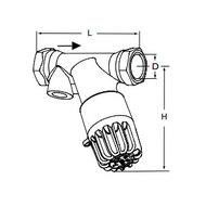 Tour & Andersson Термостатический балансировочный клапан TA-THERM, DN20, без термометра, PN16, AMETAL, 52720120
