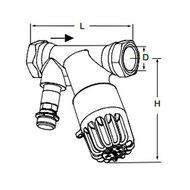 Tour & Andersson Термостатический балансировочный клапан TA-THERM, DN15, с штуцером, 52 С, PN16, AMETAL, 52720815