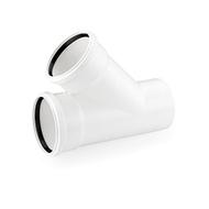 Тройник REHAU RAUPIANO PLUS 50/50/45°, для канализационных труб, арт. 11212341001