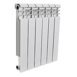 Rommer Profi 500 AL500-80-100, литой алюминиевый радиатор, 1 секция